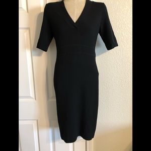 Ann Taylor NWT black, short sleeve midi dress, S
